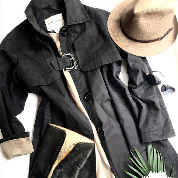Zara buckle detail trench coat
